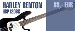 Harley Benton PB-20 BK Standard Series