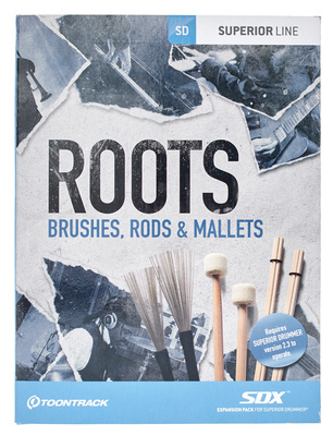 Toontrack Roots Brushes, Rods & Mallets