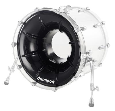 """Drumport 22"""" Megaport Booster Black"""